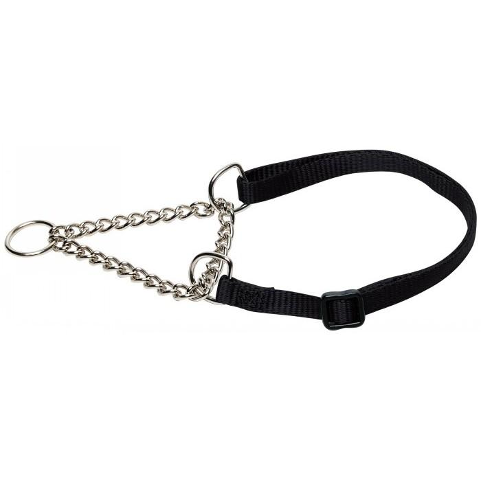"Prestige 3/4"" ADJ SEMI CHOKE COLLAR 12-20"" Black (30-51cm) - Click to enlarge"