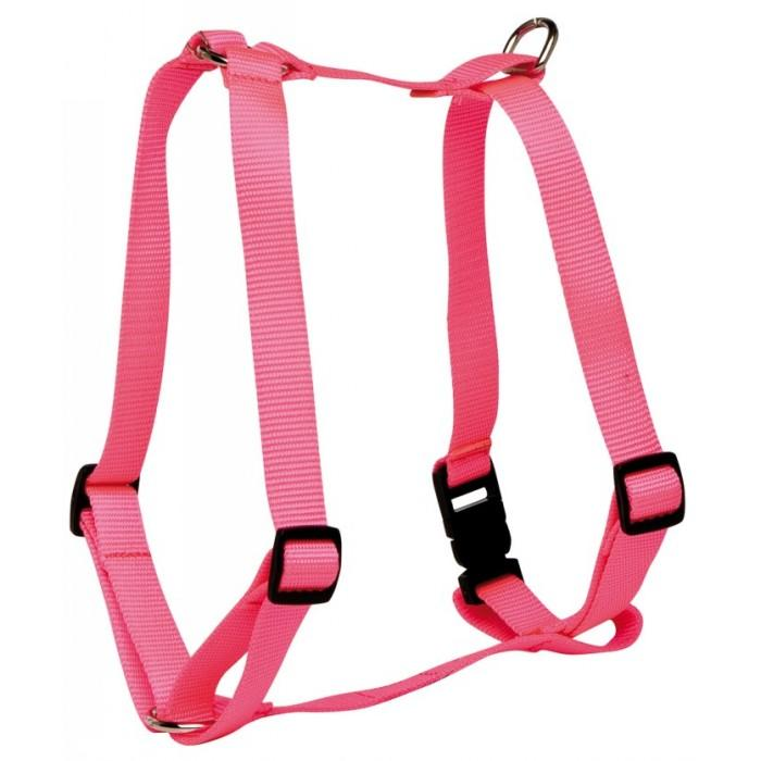 "Prestige 3/4"" DOG HARNESS ADJ 16-26"" (41-66cm) Hot Pink - Click to enlarge"