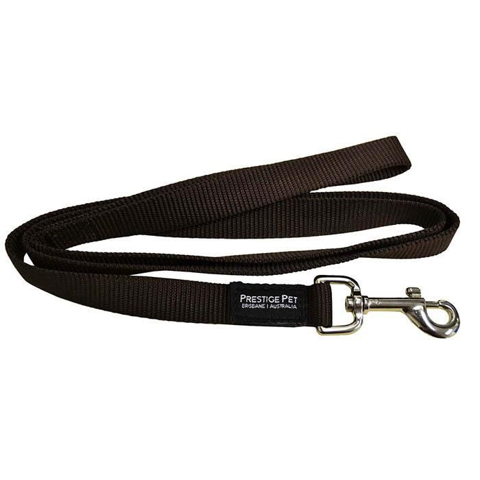 "Prestige SINGLE PLY LEASH 3/4"" x 4' Brown (122cm)"