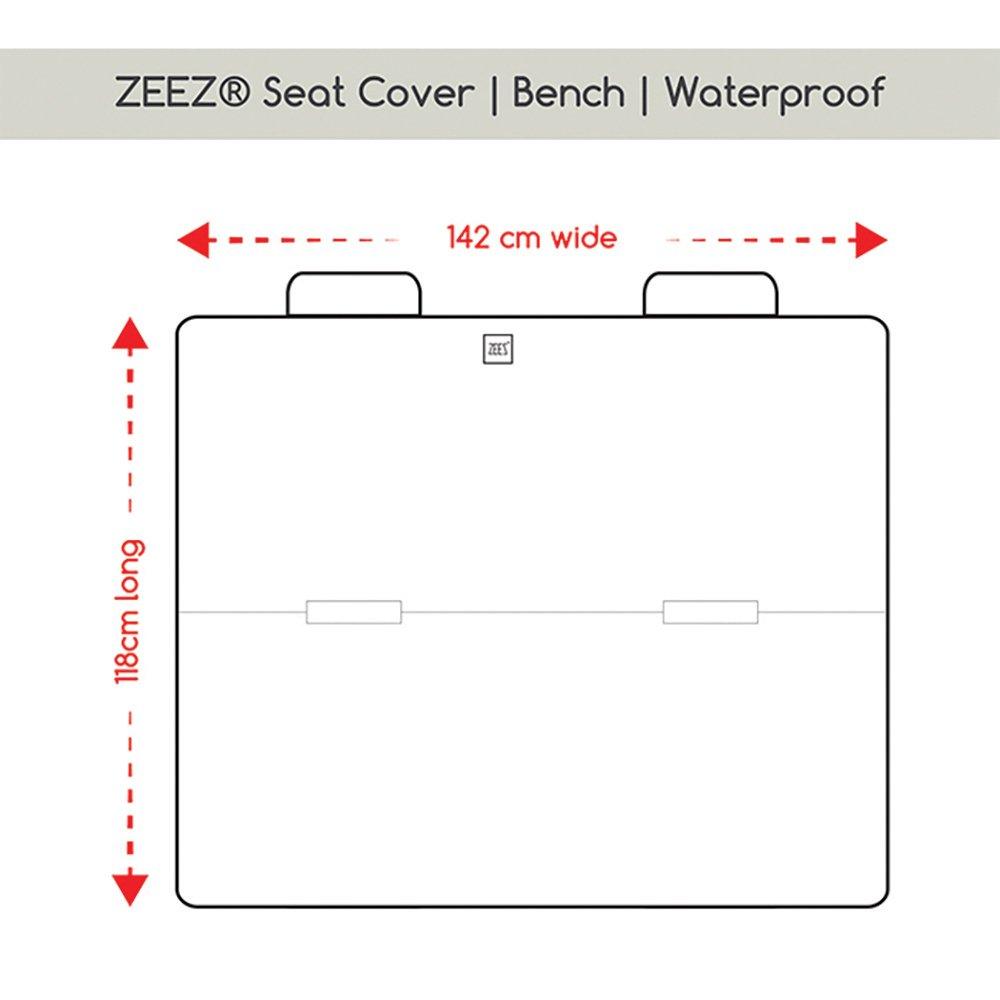 ZEEZ SEAT COVER BENCH - PREMIUM WATERPROOF - 118 x 142cm