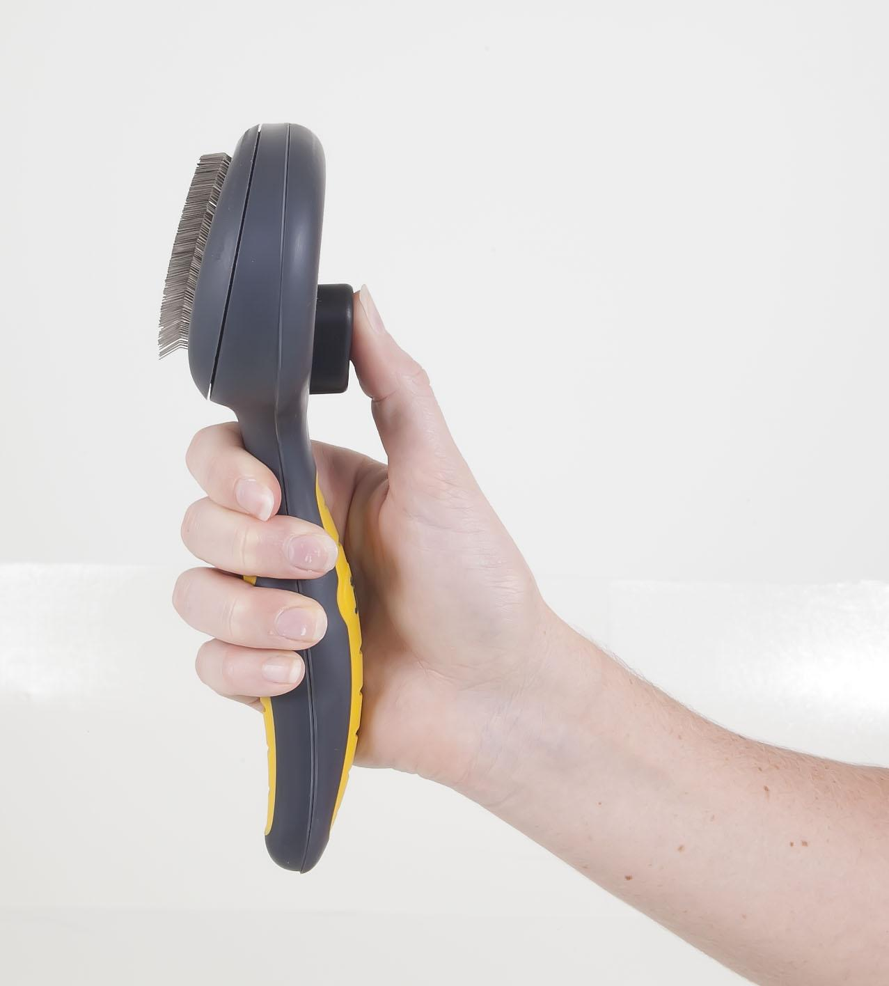 Gripsoft SELF-CLEANING SLICKER BRUSH - Small