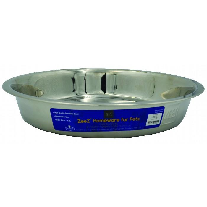 ZEEZ STAINLESS STEEL PUPPY PAN 25cm - 1.5L - Click to enlarge