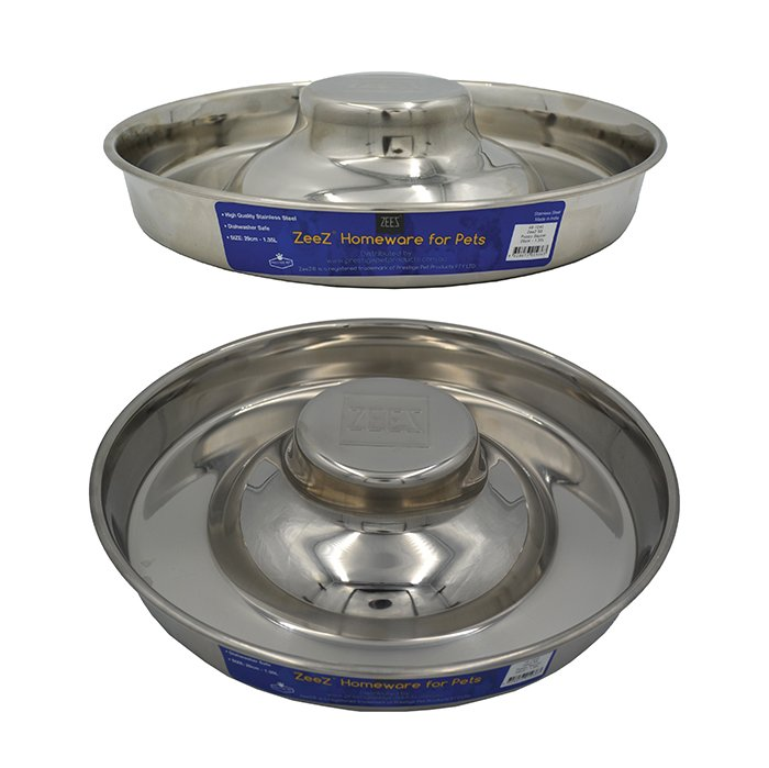ZEEZ STAINLESS STEEL PUPPY SAUCER - 28cm - Click to enlarge
