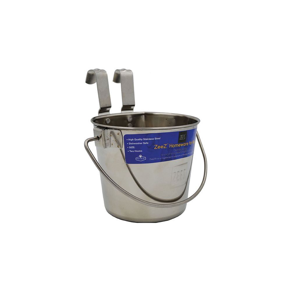 SS FLAT SIDED BUCKET PAIL 1.2L - TWO HOOKS - Click to enlarge