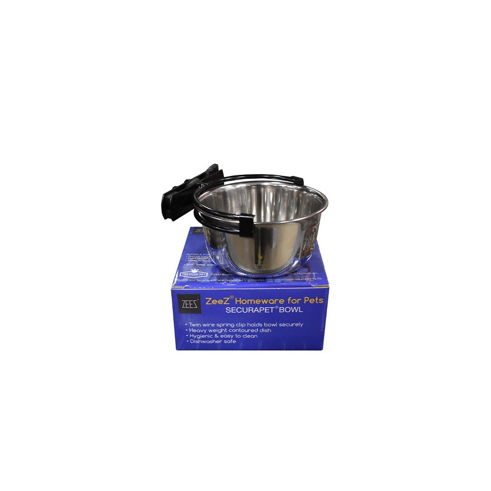 SecuraPet BOWL - SMALL 300mL Stainless Steel - Click to enlarge