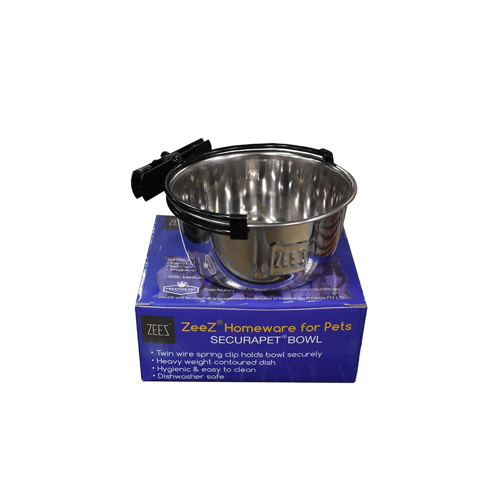 SecuraPet BOWL - MEDIUM 600mL Stainless Steel - Click to enlarge