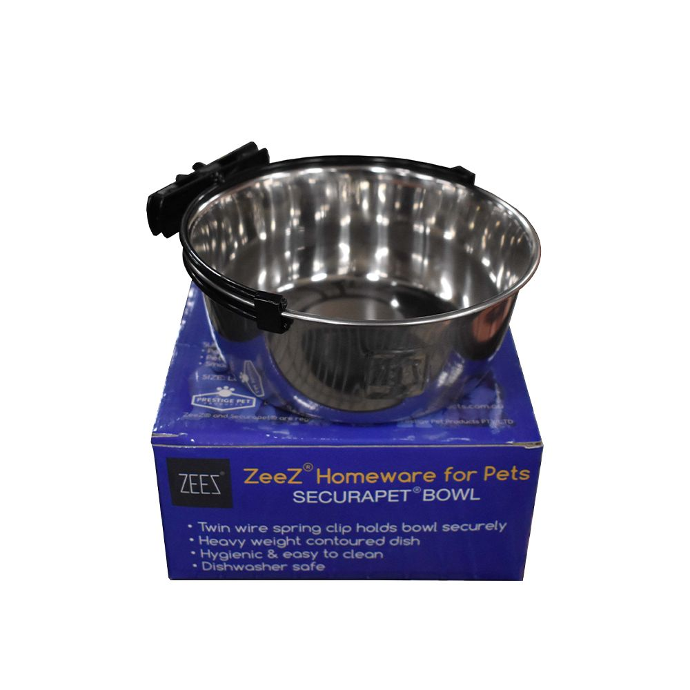 ZEEZ SecuraPet BOWL - LARGE 900mL Stainless Steel - Click to enlarge