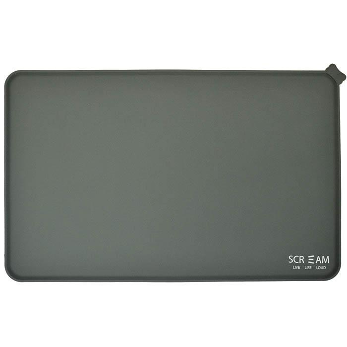 Scream SILICONE FOOD MAT 50 x 31cm Grey - Click to enlarge