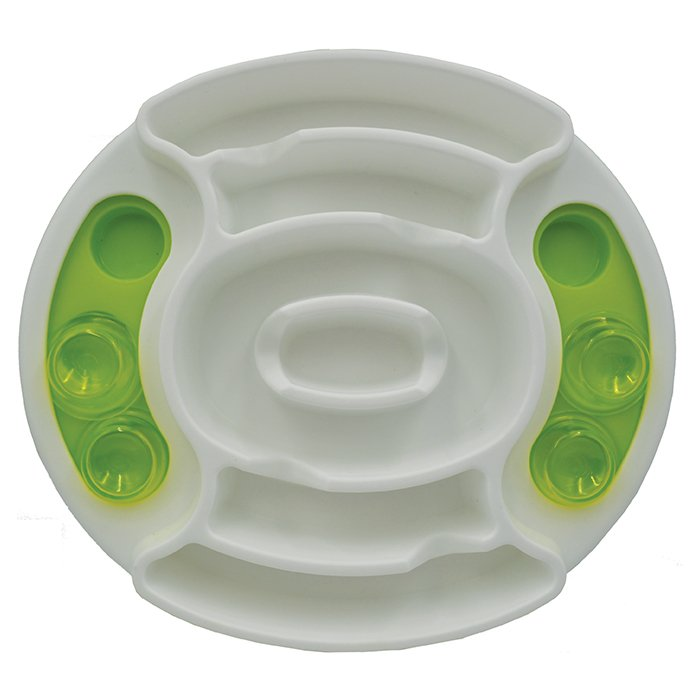 Scream SLOW FEED INTERACTIVE PUZZLE BOWL Loud Green 27x31cm
