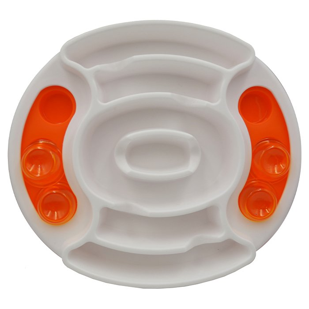 Scream SLOW FEED INTERACTIVE PUZZLE BOWL Loud Orange 27x31cm