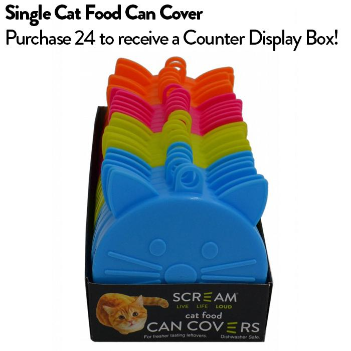 Scream CAT FOOD CAN COVER SINGLE Assorted Colours
