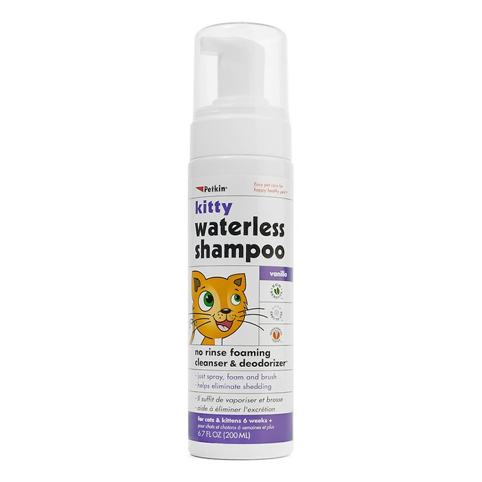 Petkin KITTY WATERLESS SHAMPOO - VANILLA SCENT 200ml - Click to enlarge