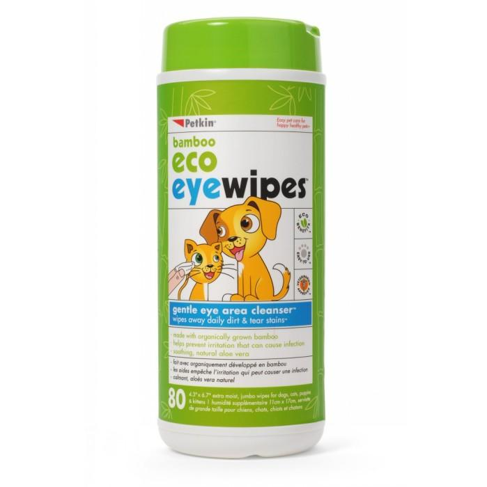 Petkin BAMBOO ECO EYE WIPES -80pk - Click to enlarge