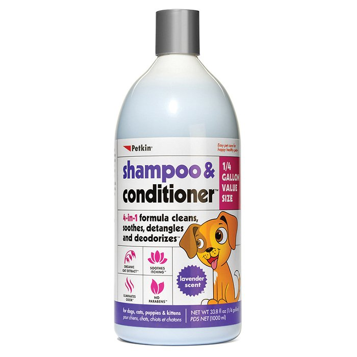 Petkin SHAMPOO & CONDITIONER - LAVENDER SCENT 1L - Click to enlarge