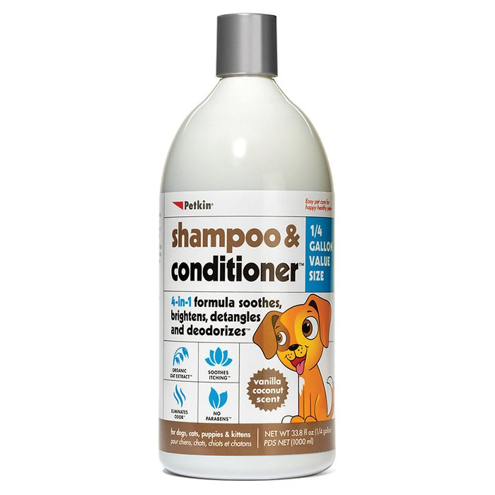 Petkin SHAMPOO & CONDITIONER - VANILLA COCONUT SCENT 1L - Click to enlarge