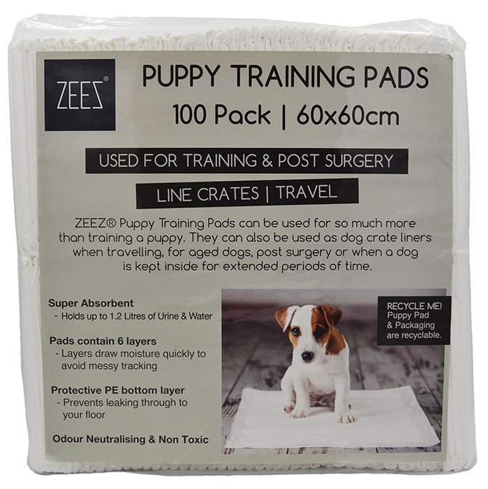 ZEEZ PUPPY TRAINING PADS 60 x 60 cm - 100pk - Click to enlarge