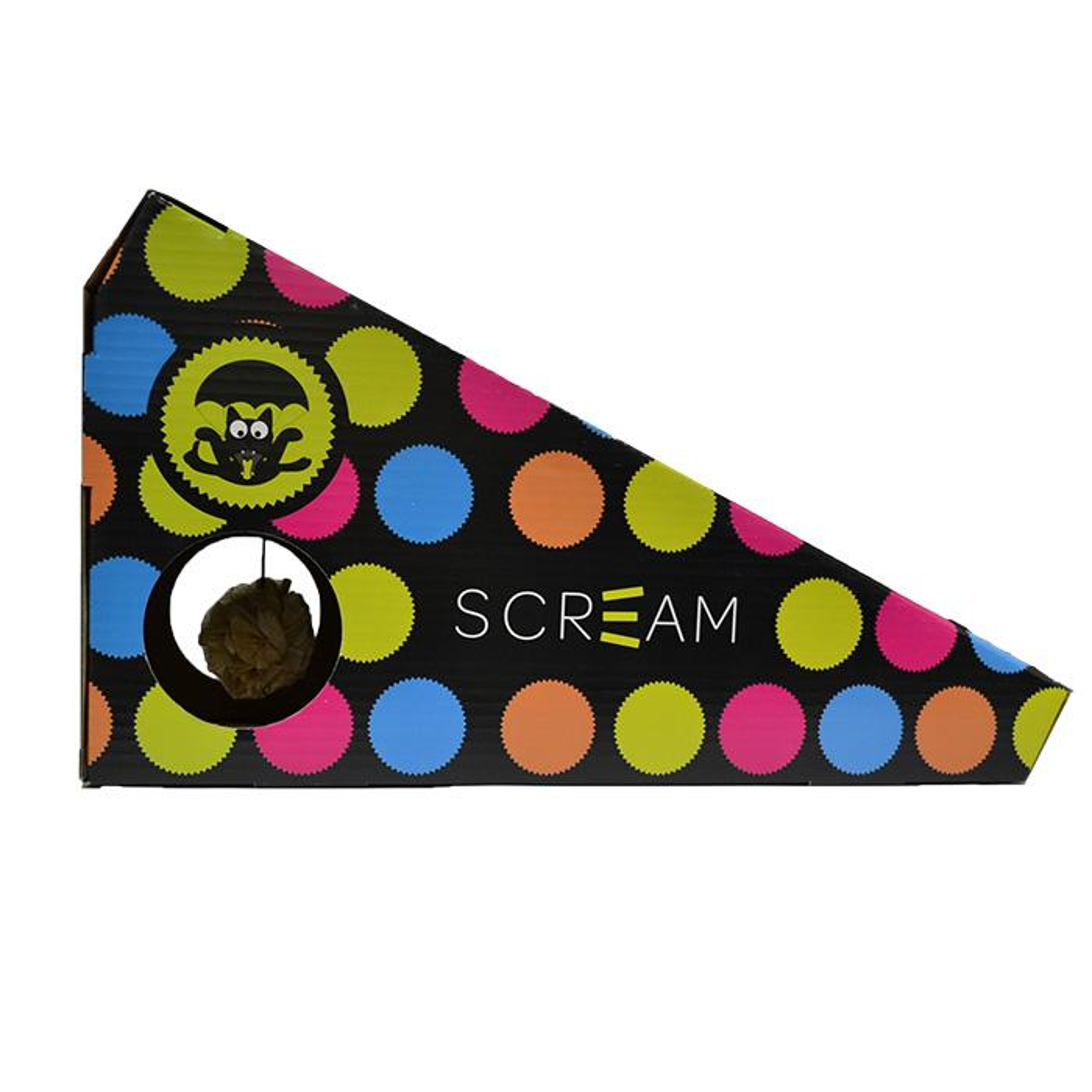 Scream INCLINE CAT SCRATCHER (48x20x25cm) Loud Multicolour