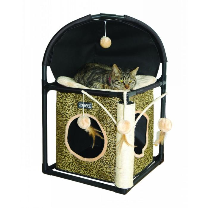 ZEEZ FELINE CUBE FUN HOUSE 40 x 40 x 73cm - Click to enlarge