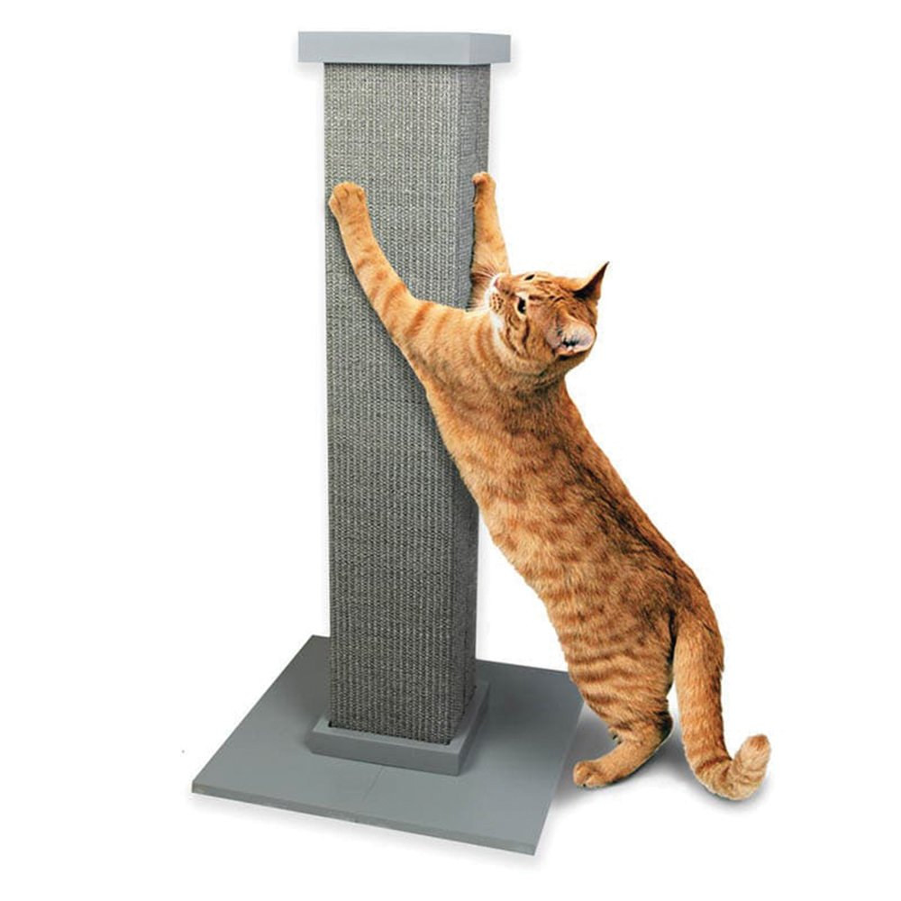 """SmartCat ULTIMATE SCRATCHING POST 32"""" (81cm) Height Grey - Click to enlarge"""