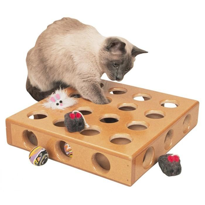SmartCat PEEK-A-PRIZE TOY BOX cm(34 x 34 x 8) - Click to enlarge