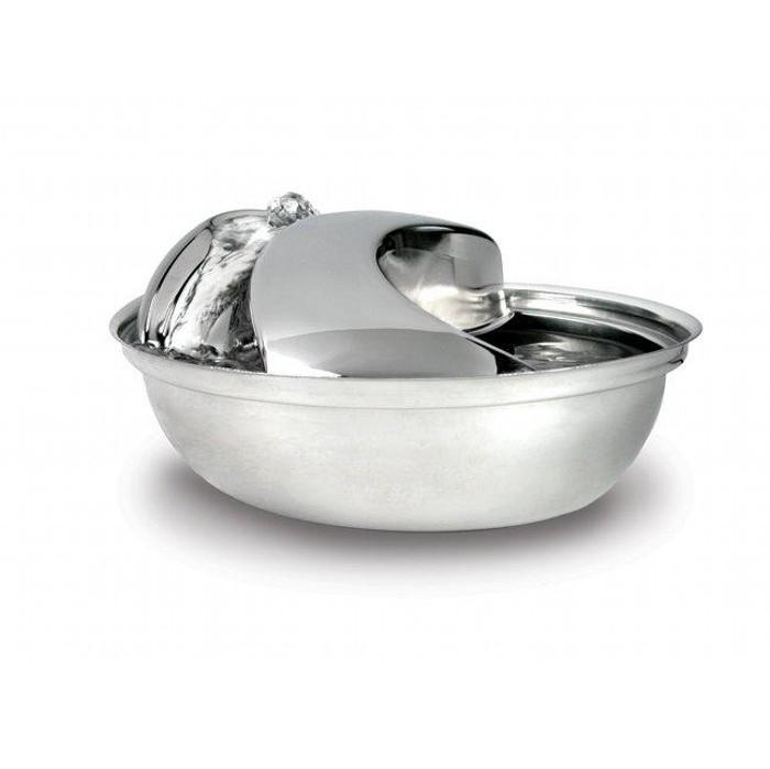 Pioneer STAINLESS STEEL PET FOUNTAIN - Raindrop Style 1.77L - Click to enlarge