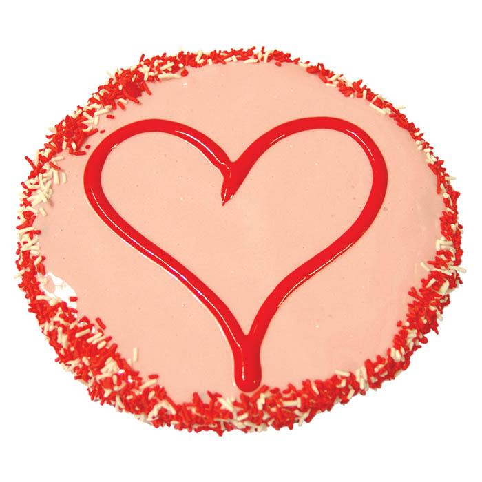Huds and Toke - YOGHURT FROSTED LOVE HEART CAKE 12cm - Click to enlarge