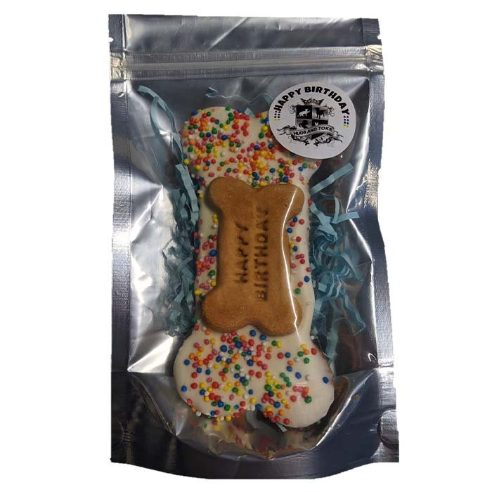 Huds and Toke - HAPPY BIRTHDAY BONE 14cm (BLUE PACKAGING) - Click to enlarge