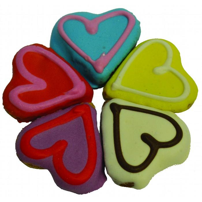 Huds and Toke - LITTLE DOGGY LOVE HEART COOKIES 5pk - Click to enlarge