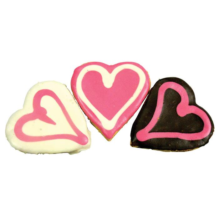 Huds and Toke - BIG DOGGY LOVE HEART COOKIES 3pk - Click to enlarge