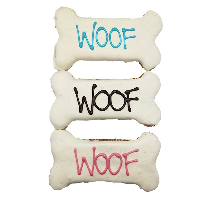 Huds and Toke - WOOF SMALL BONE COOKIE - 10cm - Click to enlarge