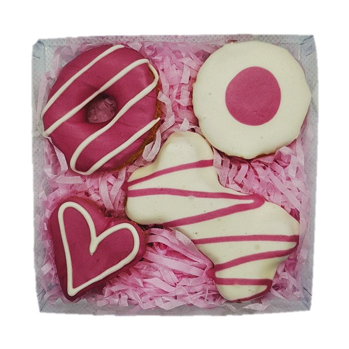 Huds and Toke - PINK COOKIE MIX GIFT BOX (4 Cookies) - Click to enlarge