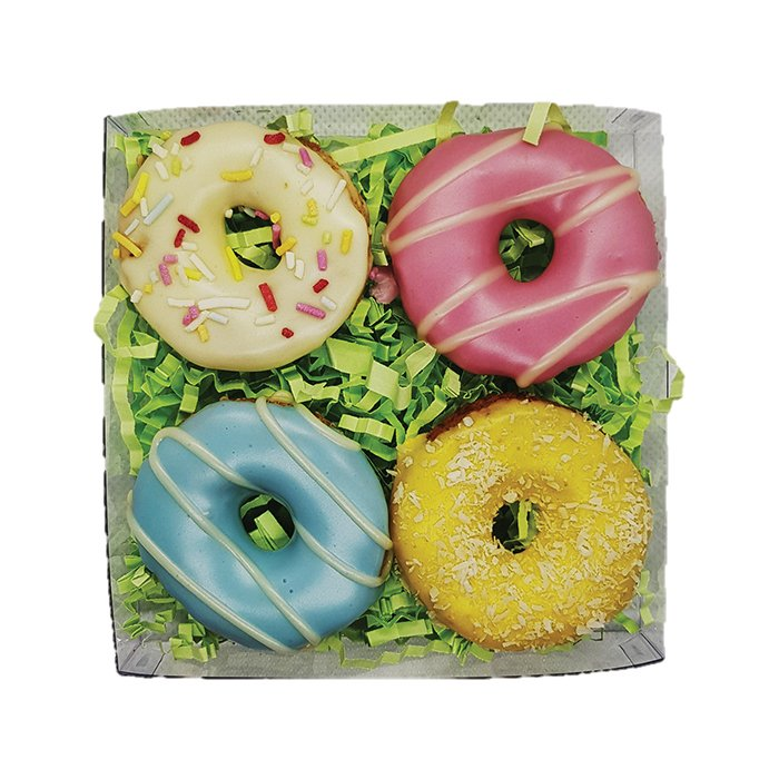 Huds and Toke - LITTLE DOGGY DONUT GIFT BOX (4 Cookies) - Click to enlarge
