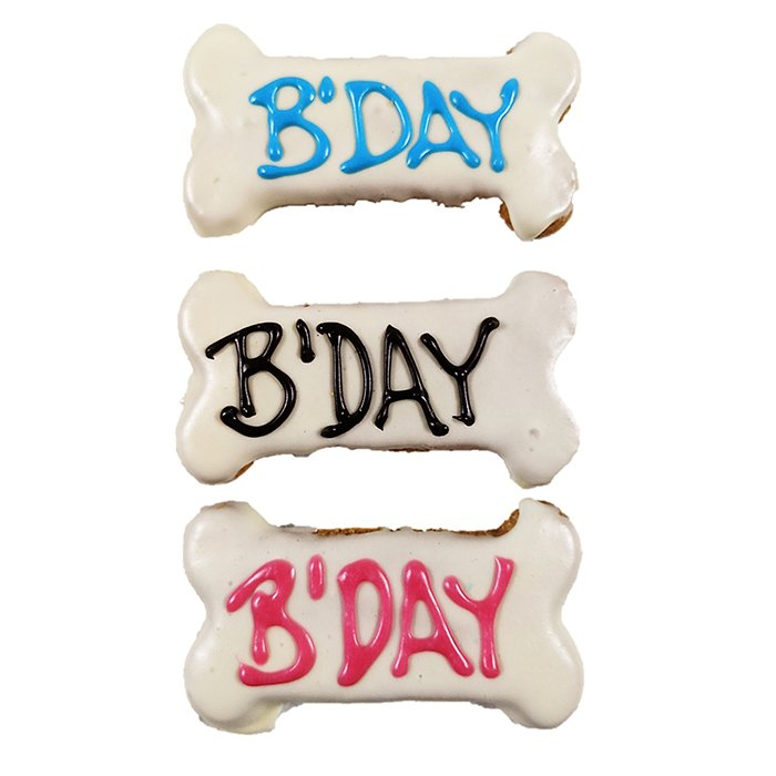 Huds and Toke - B'DAY SMALL BONE COOKIE - 10cm - Click to enlarge
