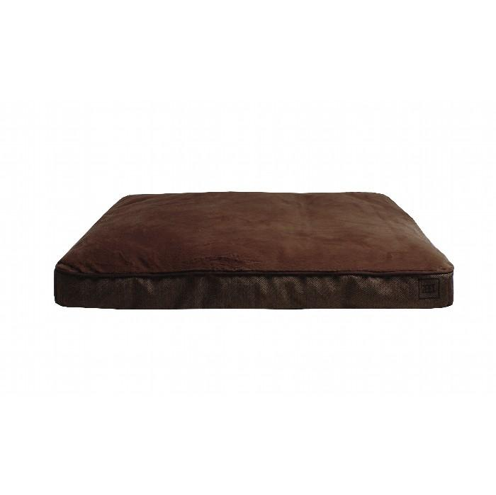 ZEEZ RECTANGLE GUSSET BED Brown Large122x91x19cm - Click to enlarge