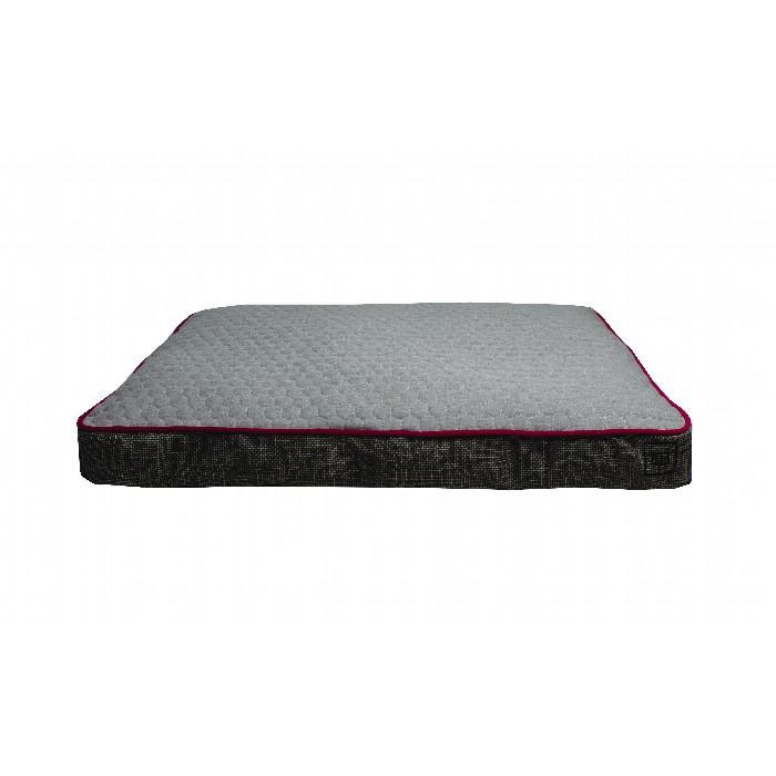 ZEEZ RECTANGLE GUSSET BED Grey Large 122x91x19cm - Click to enlarge