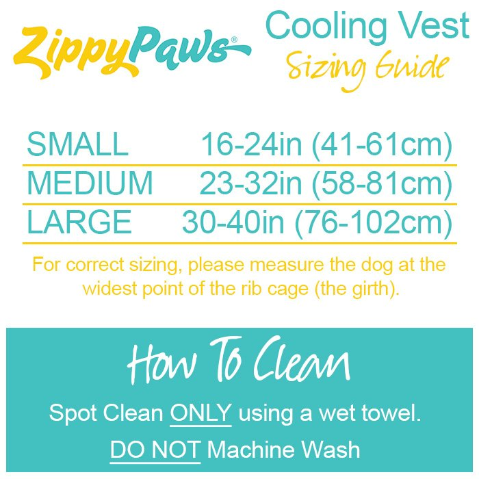 ZippyPaws - COOLING VEST Small Blue (Girth Size: 41-61cm)