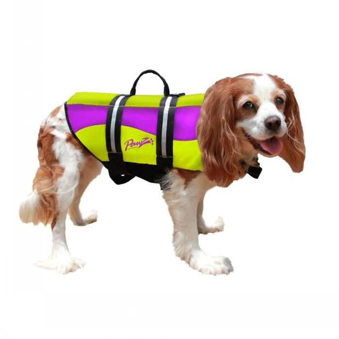 Pawz - NEOPRENE DOG LIFE JACKET Yellow & Purple X-Small - Click to enlarge