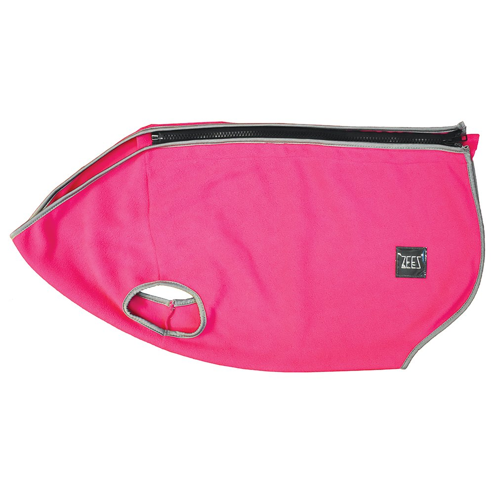 ZeeZ COZY FLEECE DOG VEST S2 (19cm) Ruby Pink - Click to enlarge