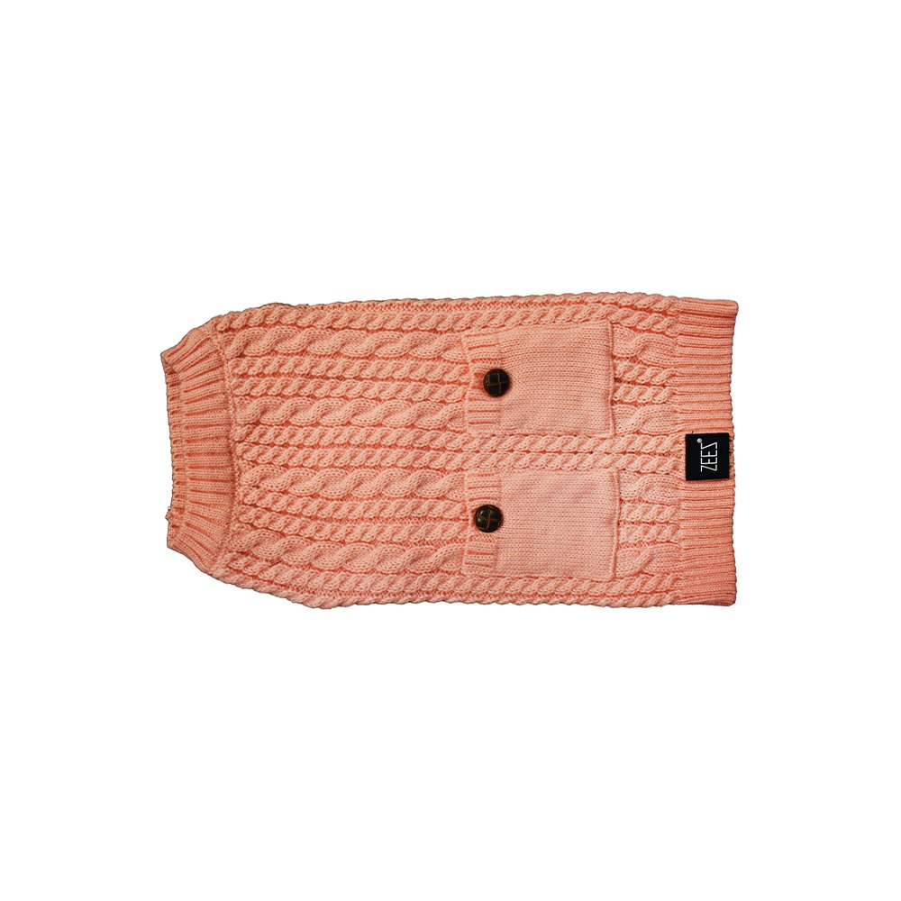 ZEEZ CABLE KNITTED SWEATER Small 27cm - Musk Pink - Click to enlarge