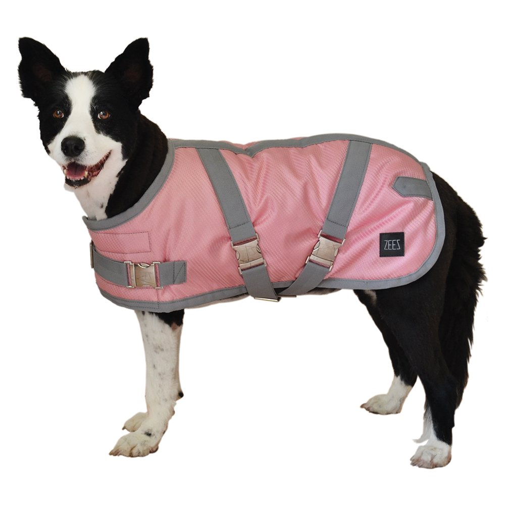 ZEEZ SUPREME DOG COAT Size 14 (36cm) Flamingo Pink/ Grey