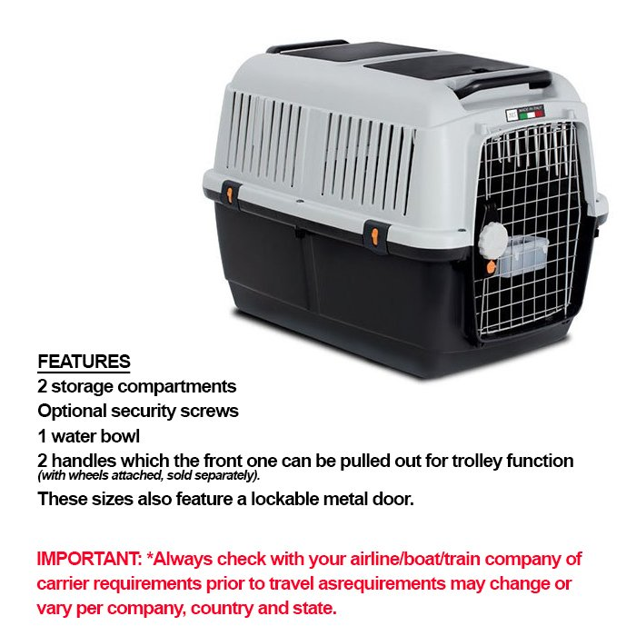 ZEEZ BRACCO TRAVEL 6 - PET CARRIER 92x64x67.5cm