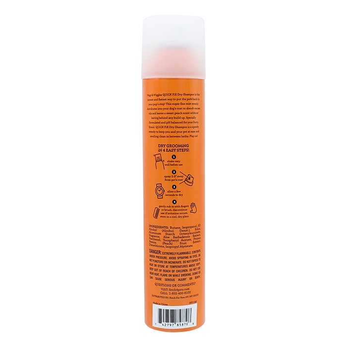 Wags & Wiggles QUICK FIX DRY SHAMPOO FOR DOGS - 198g Aerosol