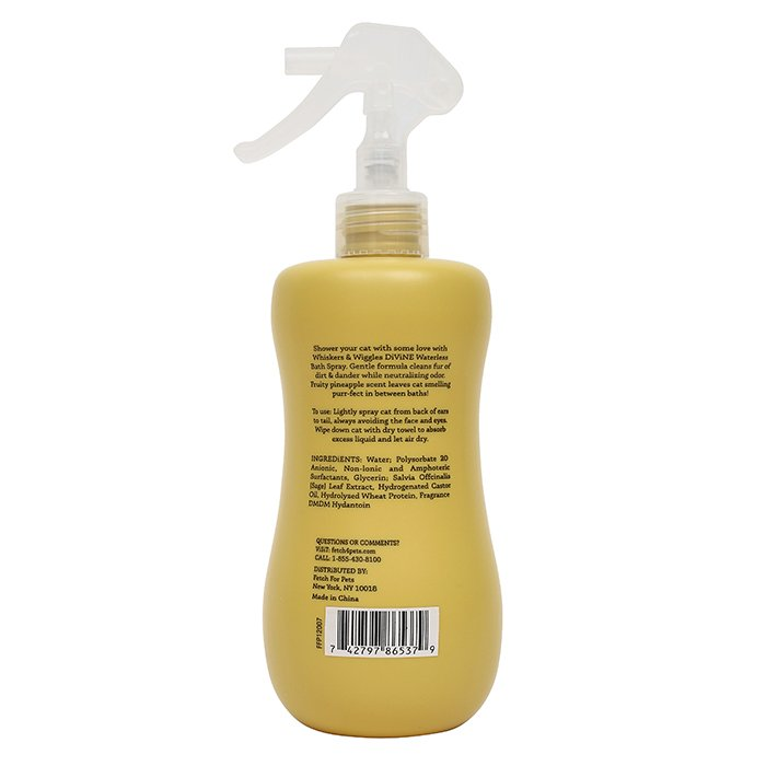 Whiskers & Wiggles WATERLESS BATH SPRAY - Pineapple 355ml