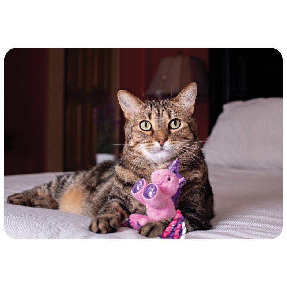 """Multipet UNICORN CAT TOY Asstd. Colours 3"""" (7.5cm)"""