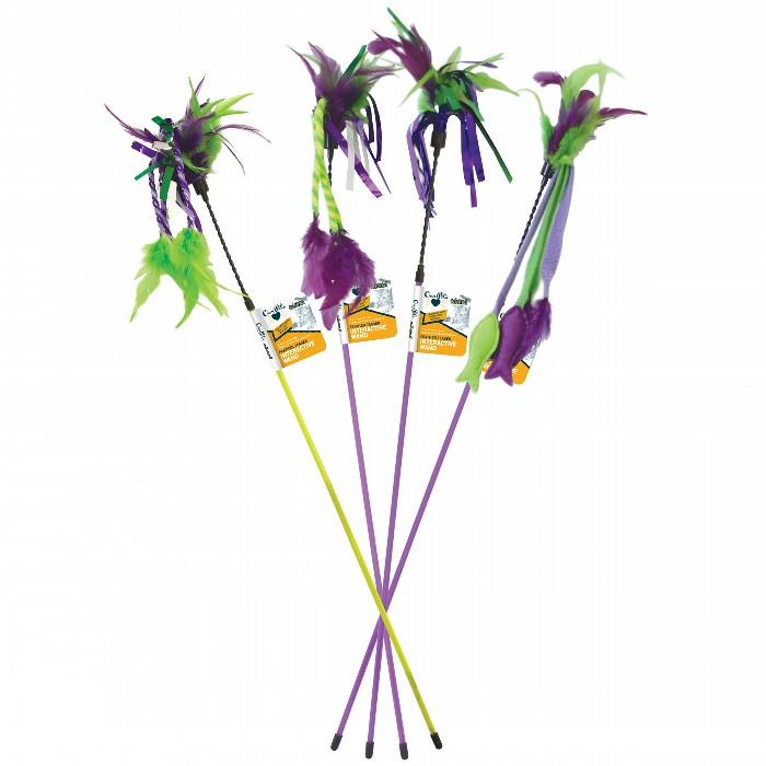 Go!Cat!Go! FEATHER TEASER ASSORTED 45cm+37cm dangle (approx) - Click to enlarge
