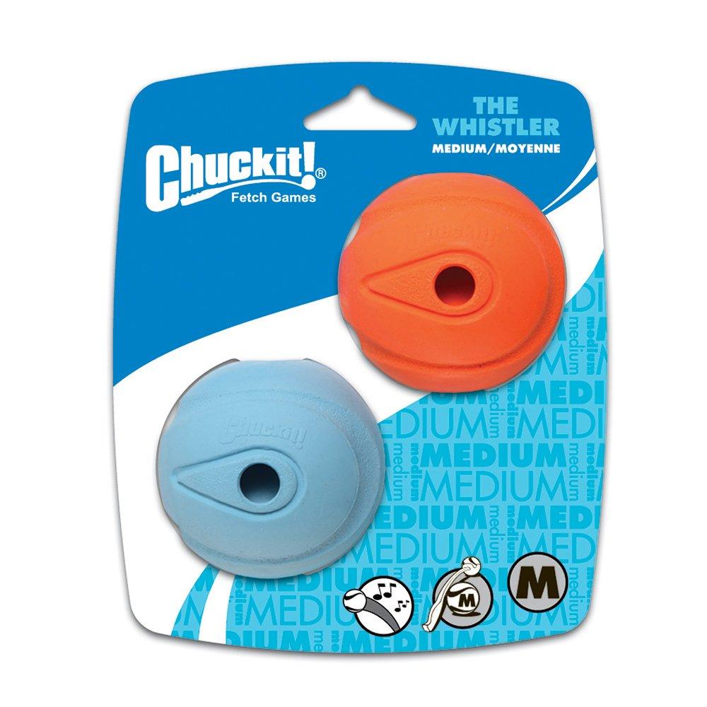 "Chuckit! WHISTLER BALL - MEDIUM 2.5"" (6cm) - 2pk - Click to enlarge"