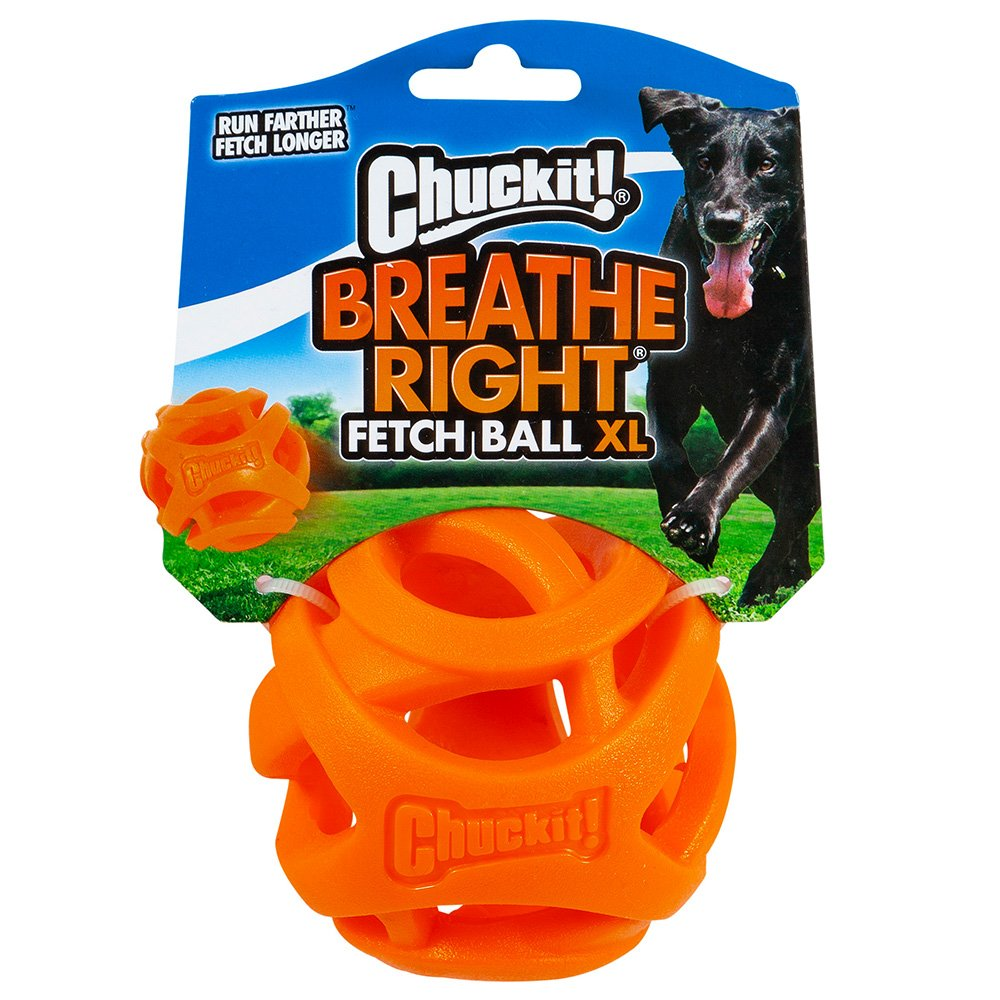 Chuckit! BREATHE RIGHT FETCH BALL EXTRA LARGE 1pk 8.5cm - Click to enlarge