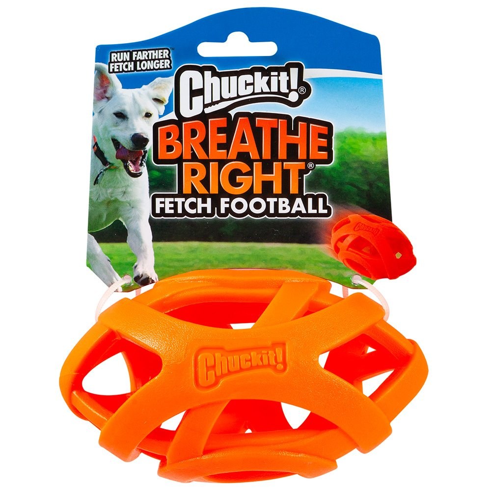 Chuckit! BREATHE RIGHT FOOTBALL 14 x 7.5cm - Click to enlarge