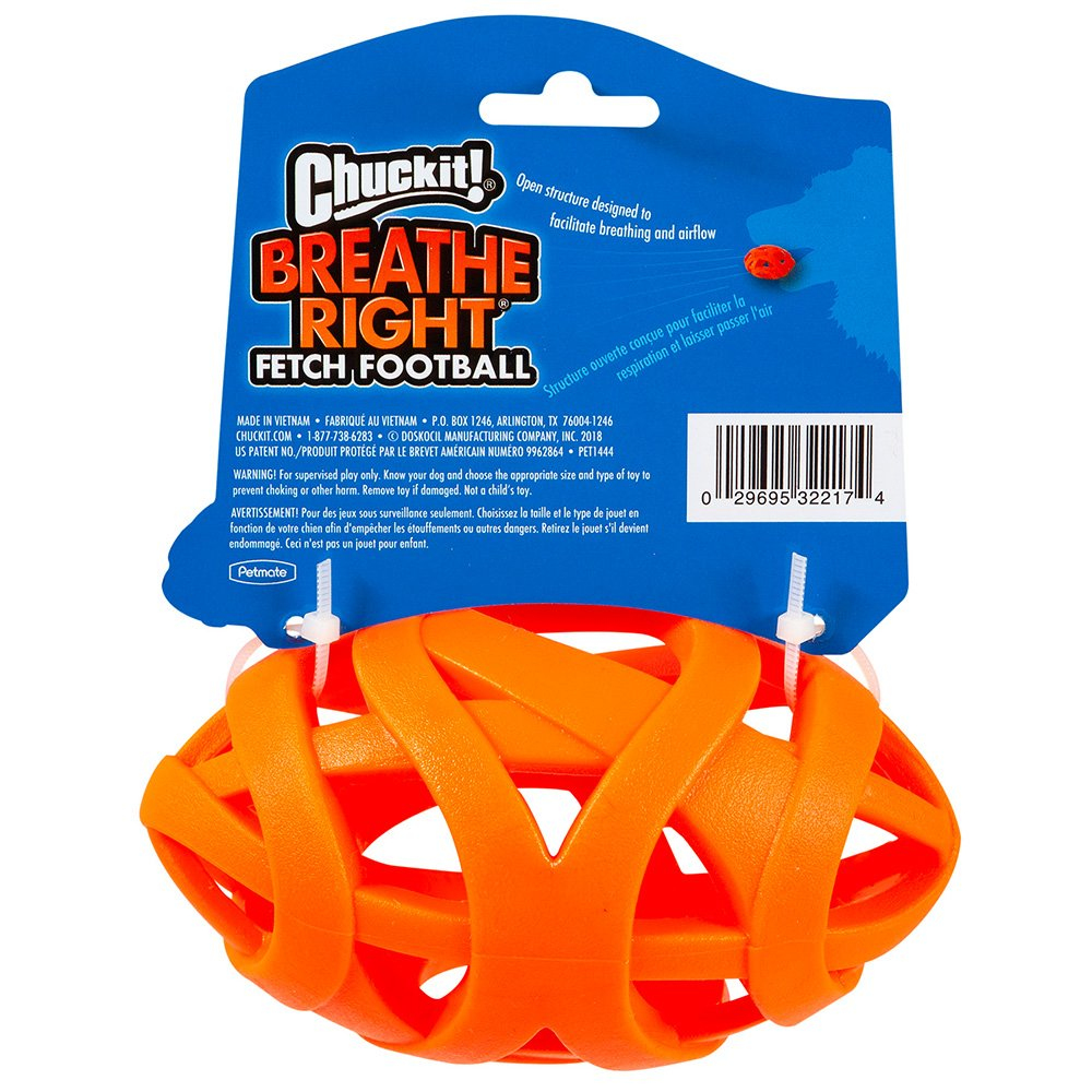 Chuckit! BREATHE RIGHT FOOTBALL 14 x 7.5cm