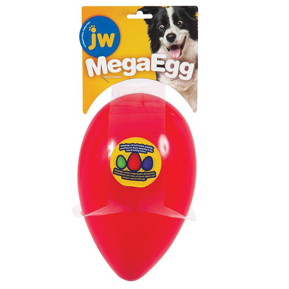 JW MEGA EGG Large (25.5 x 16cm) Red - Click to enlarge